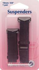 Jarretelle: Noir 15 x 170mm. Rapide facile to utilisation Crochet