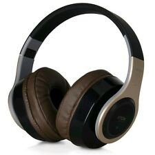 TDK Wireless Headphones with Mic and Remote Control for Smartphone - Gold/Brown