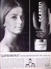 PUBLICITÉ 1964 CHEN YU QUINTESSENCE CRÈME REVITALISANTE - ADVERTISING