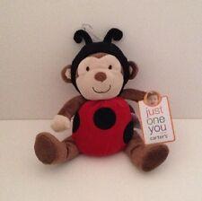 NEW Carter's Baby Monkey Plush Just One You Stuffed Animal Ladybug Costume Toy