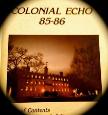 "1986 COLLEGE of WILLIAM AND MARY YEARBOOK ""Echo"""