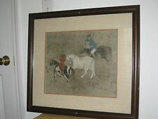 Vintage Chinese OLD horse training painting