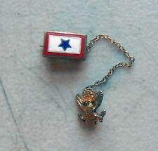 Original WW2 US Son in Service Pin Chained to US Army Sweetheart Insignia