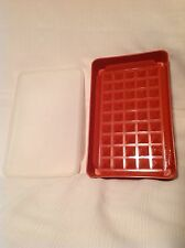 Vintage tupperware orange red Container meat marinade Lunch Meat Saver 10 x 6