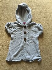 Girls Takeout Girls Gray Short Sleeved Hooded Sweater Size S