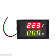 Digital Voltmeter Ammeter LED Panel AC80-300V 100A Amp Volt Meter Dual Display