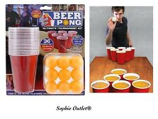 36 pc BEER PONG Drinking Game Set Cups Balls Party Kit Pub Ping Men Man Fun Gift
