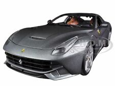 FERRARI F12 BERLINETTA GREY 1/18 DIECAST MODEL CAR BY HOTWHEELS BCJ74