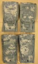 Lot of 4 - US Military Army ACU Molle II M16 / M4 Double Mag Ammo Pouches EUC