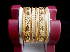 6Pc South Indian Designer Gold Plated Bollywood Stylish Bangles Set 2.8""