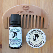 Merry Band Beard Kit | Oil | Balm | Wooden Comb | Natural Grooming Set