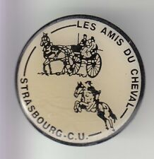 RARE PINS PIN'S .. SPORT CHEVAL HORSE ATTELAGE AMIS ALSACE  STRASBOURG  67 ~C4