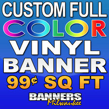 3'x6' Custom Full Color Vinyl Banner - Free Shipping