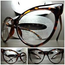 CLASSIC VINTAGE 60's CAT EYE Style Clear Lens EYE GLASSES Tortoise Fashion Frame
