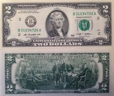 USA 2009 2 DOLLAR FRN UNCIRCULATED CRISP BANKNOTE B SERIES NEW YORK USA SELLER