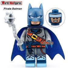 Pirate Suit Batman Bruce Wayne with Weapon DIY Blocks Minifigures Kids Toys