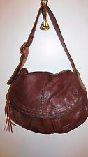LUCKY BRAND BROWN SOFT LEATHER DIVIDED SHOULDER BAG EXCELLENT CONDITION