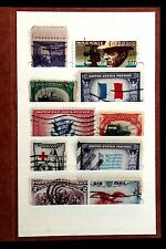"US Old Vintage Error Stamp Collection in Small  Antique ""Stamp Wallet"""