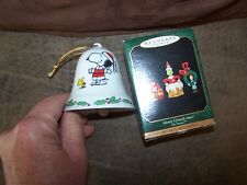 2 Super Cute Comic Themed Christmas Ornaments Snoopy Bell, Grinch Collection new