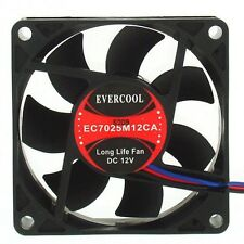 EVERCOOL 70x70x25mm DC 12v case Fan,EC7025M12CA