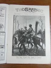 genre L ILLUSTRATION : WWI WAR GUERRE 14/18 : revue THE GRAPHIC 1917 Nr 2474