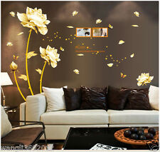 New Removable Wall Stickers Home Decor Art Decal Mural Room DIY Paper Flower