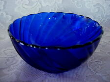 Collectible Cobalt Blue Glass Berry Bowl - Made in France - MORE AVAILABLE
