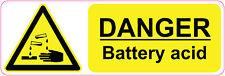 300 x 100 mm ] peligro-el ácido de batería de la salud y seguridad | signs/stickers