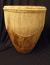 "Paupua New Guinea or African Drum (12"" tall; 10"" diameter at top)"
