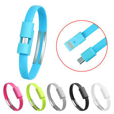 Universal 6Farbe Wristband Micro USB Lade Charging Data Sync Cable For Android