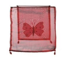 New - Embroidered Satin Effect  Red Butterfly Pendant Lamp Light Shade