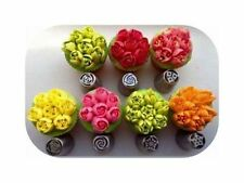 7pc Hot Russian Big Flower Stainless Steel Icing Piping Nozzles Cake Baking Tool