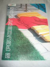 Peugeot 205 Color Line brochure c1991 German text