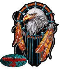 EAGLE DREAMCATCHER Patch Aufnäher Aufbügler Biker Motorrad Rocker Adler Harley