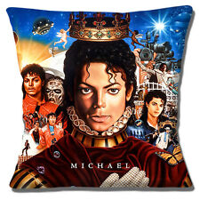 "NEW MICHAEL JACKSON PRINCE ALBUM COVER THRILLER COLLAGE 16"" Pillow Cushion Cover"
