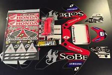 Honda Crf 50 04-16 PitBike Graphics Kit Free Troy Lee Grips Pro Taper Pad New