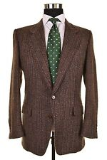 Ermenegildo Zegna Brown Stripe Wool ALPACA TWEED Sport Coat Jacket 50 40 R