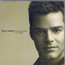 CD SINGLE 2 TITRES RICKY MARTIN--PRIVATE EMOTION--1999