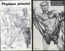 2 Physique Pictorial vintage gay erotica Art-Bob Quaintance Tom of Finland Mizer