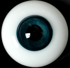 ~SoLiD RoUnD GLaSs EyEs DaRk BLuE 20MM  ~ REBORN DOLL SUPPLIES