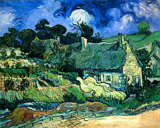 VINCENT VAN GOGH Chalets Reproduction of painting 8.3X12 CANVAS PRINT poster
