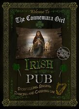CONNEMARA GIRL TRADITIONAL IRISH PUB SIGN HOME DECOR  VINTAGE STYLE METAL SIGN