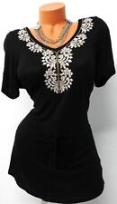 MAURICES BLACK VICTORIAN EMBROIDERED COLLAR WOMEN'S PLUS SIZE TOP 3, 3X