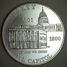 2001 US Capitol Visitor Center BU Silver Dollar Commemorative US Mint Coin ONLY
