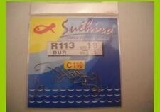 1 confezione da 20  Ami suehiro in acciaio 110  carbon serie r113  n 22   mfbi6