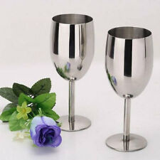 NEW stainless steel 2pcs wine glasses Creative Cup Goblets Bar Restaurant 8106U