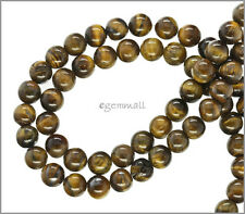 "SALE 15.7"" Brown Tiger's Eye Round Beads 8mm #81054"