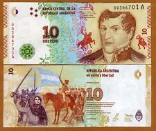 Argentina, 10 Pesos, ND (2016), P-New, A-Series, New Design UNC