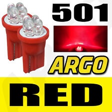 4 LED XENON RED QUAD 501 T10 W5W SIDELIGHT BULBS VOLKSWAGEN VW SCIROCCO COUPE