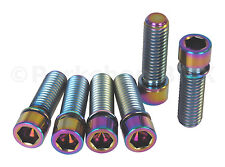 BMX stem bolts M8 X 1.25 set of 6 TITANIUM OIL SLICK JET FUEL NEOCHROME RAINBOW
